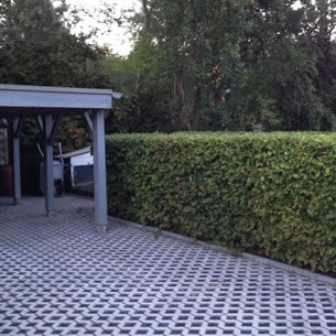 Aanleg oprit met carport