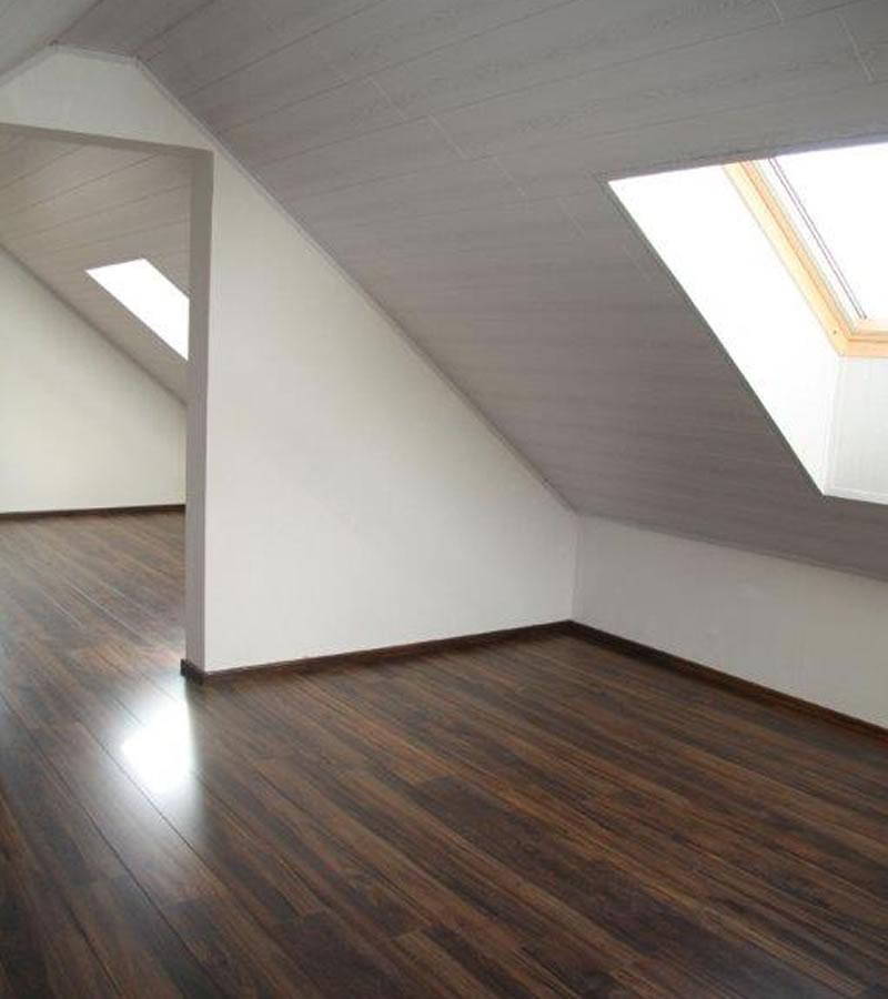Plaatsen van plafonds en vloer in laminaat of kurk