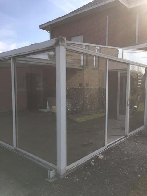 Plaatsen van terrasvloer, klinkerwerken en nieuwe veranda (3/10)